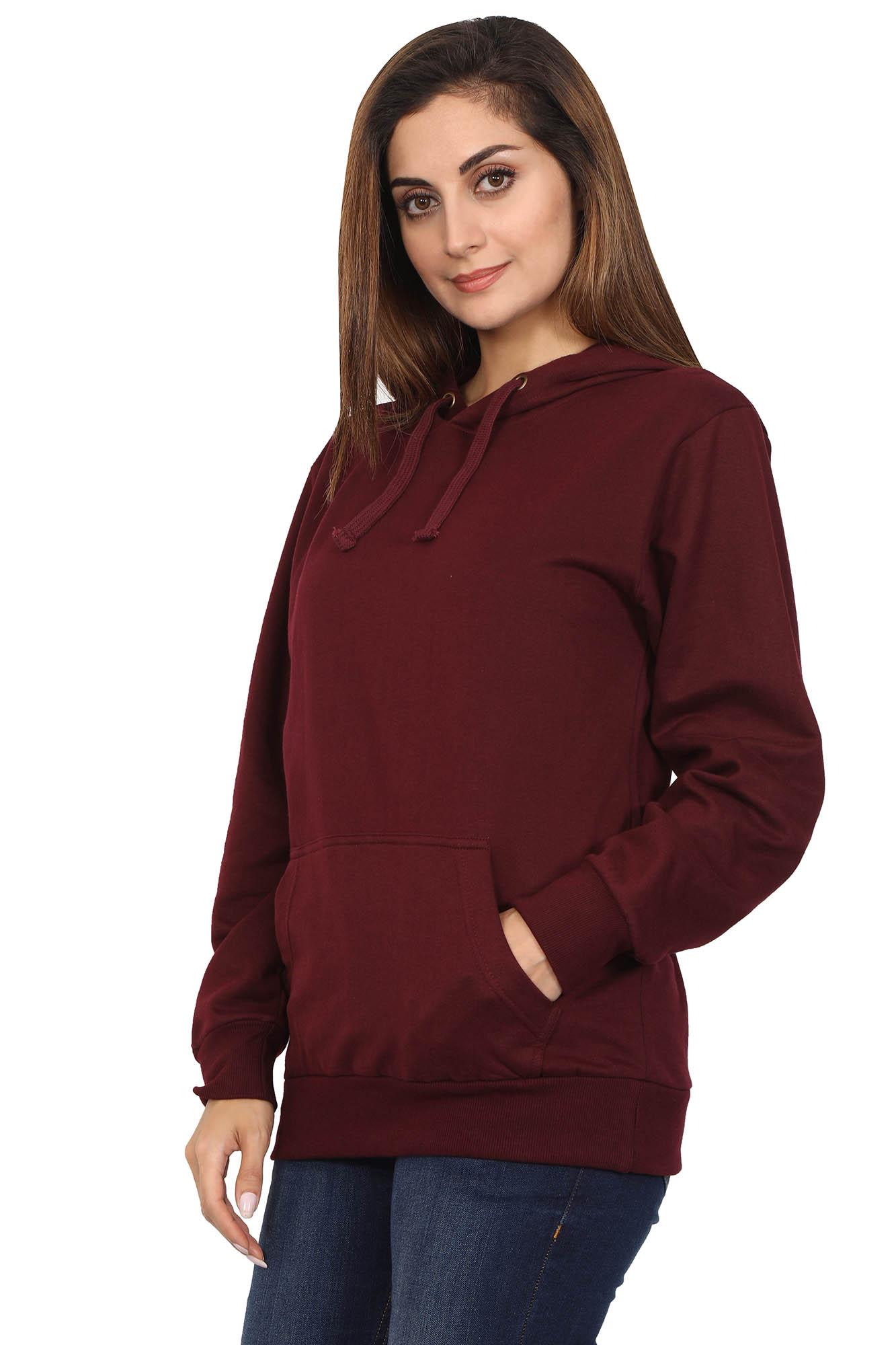 Maroon Hoodie Sweatshirt
