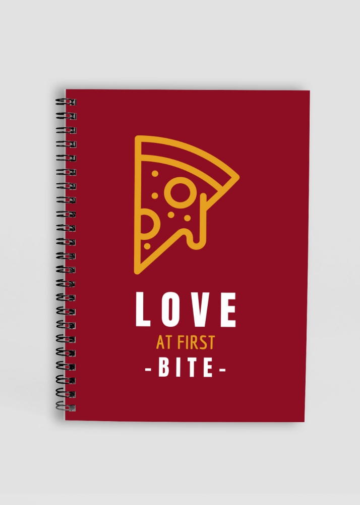 Love at First Bite - Printed Notepad - A5 Size