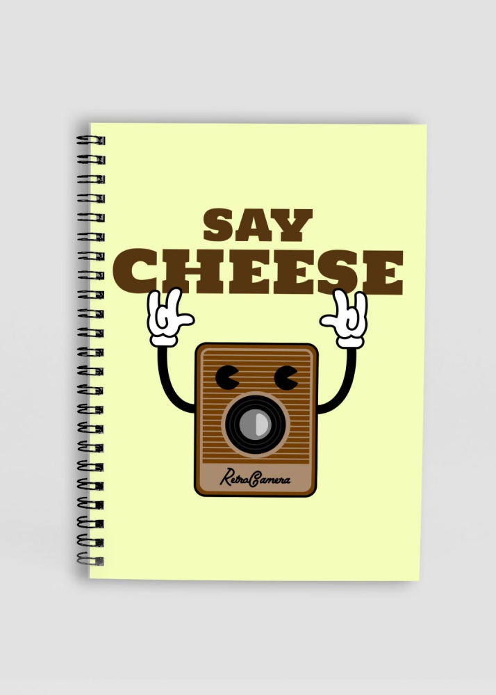 Say Cheese Vintage Camera Printed Notepad