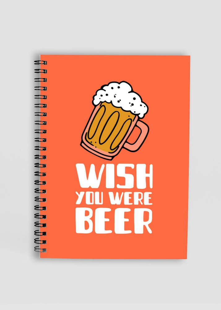 wish you were beer Orange notepad