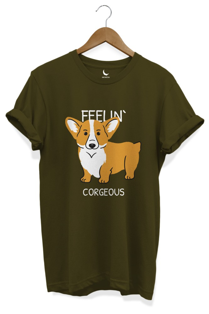 Feeling corgeous dog lover tshirt